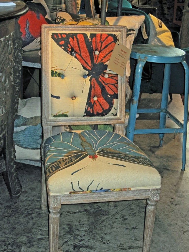 We Love The Scale Of The Butterfly Print Linen On This Side Chair. The Chair  Would Be The Perfect Way To Add A Little Color And Style To A Bare Space.