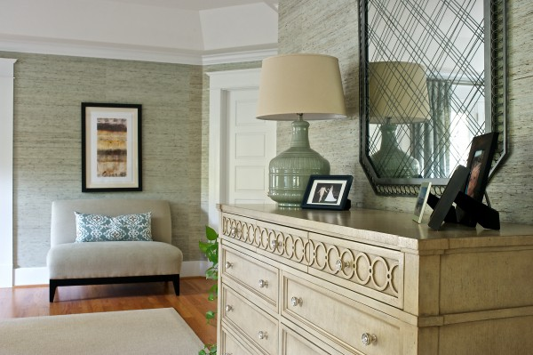 Mixing wood finishes give this master suite extra visual interest. </br> (Arlington, VA)