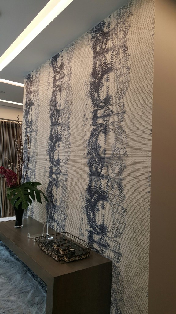 Angie's favorite: A wall covering at Romo.
