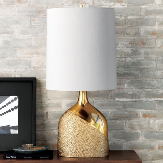 Gold patterned lamp from CB2