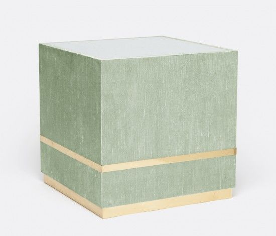 Soft green accent table from Made Goods