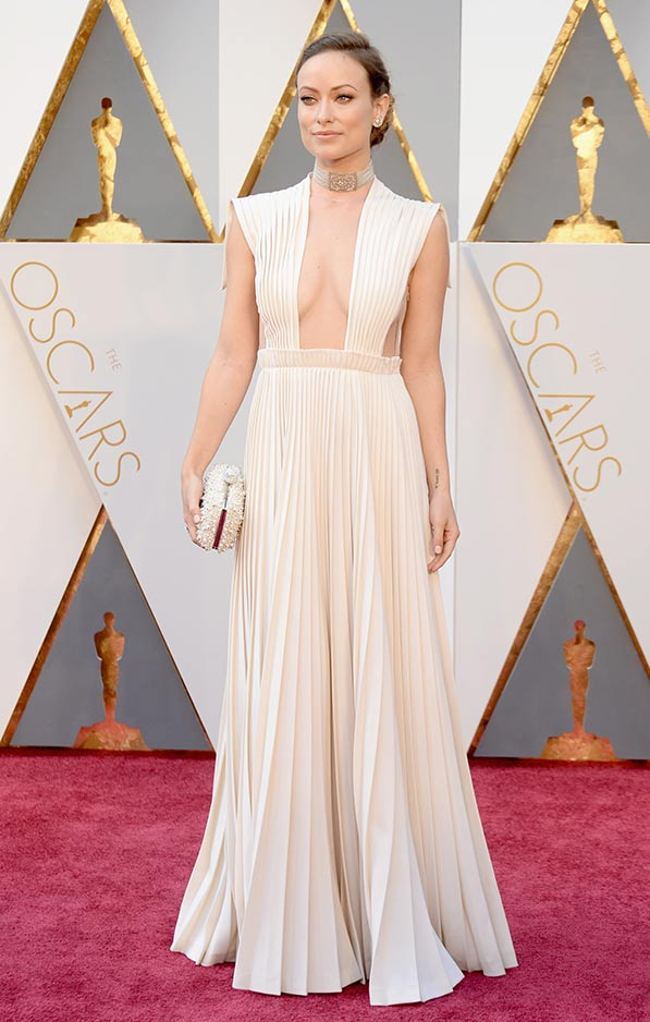 Olivia Wilde in pleated Valentino