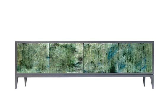 Shimmering green Milano Mystic Buffet from Ercole Home