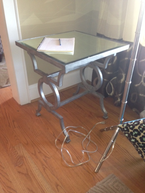 Vanguard Silver Side Table