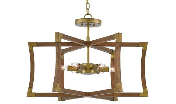 We Want It Currey & Co Bastian Semi Flush Mount