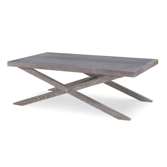 Privet Lane coffee table in dune cerused oak finish by Kravet.
