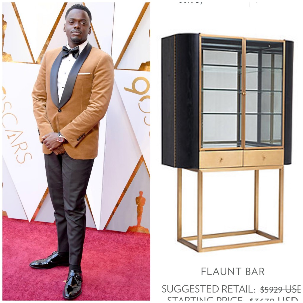 Sleek and sophisticated Daniel Kaluuya in a golden-hued blazer by Brunello Cucinelli.